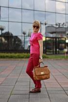 tawny Dolce&Gabbana bag - hot pink Zara socks - tawny Dsquared2 loafers - hot pi