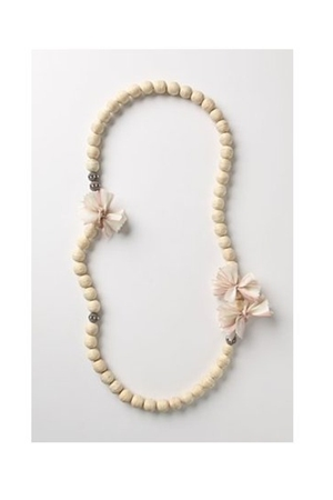 beige Anthropologiet necklace
