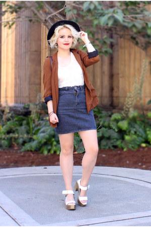 Zara blazer - American Apparel skirt