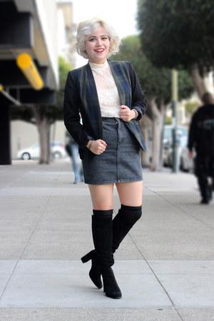 American Apparel blazer - Zara heels