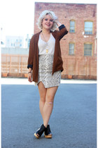 Wasteland skirt - Zara blazer - Nasty Gal heels
