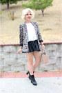 Zara-blazer-pleather-skirt-h-m-skirt