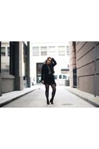 black jacket H&M skirt - Topshop skirt