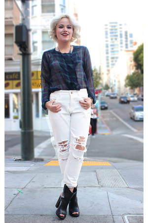Forever 21 top - Front Row Shop jeans