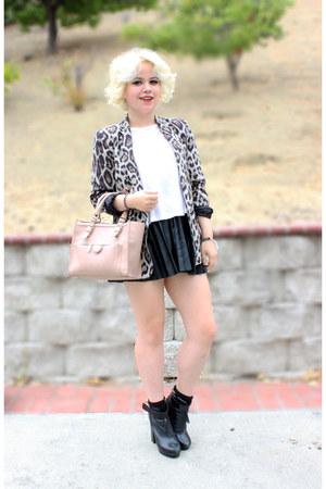 pleather skirt H&M skirt - Zara blazer