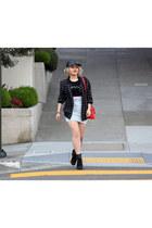red bag purse Express bag - American Apparel skirt