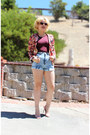 Floral-print-ebay-jacket-shortsacid-wash-american-apparel-shorts