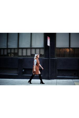 brown vest asos vest