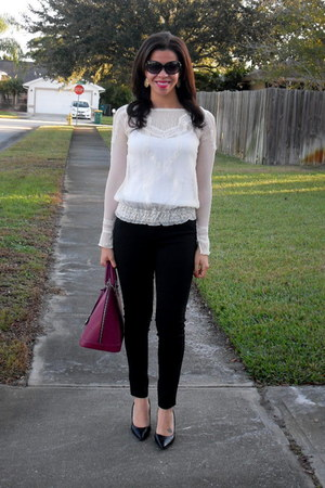 Arden B blouse - Pulicati bag - Michael Kors sunglasses - Forever 21 intimate