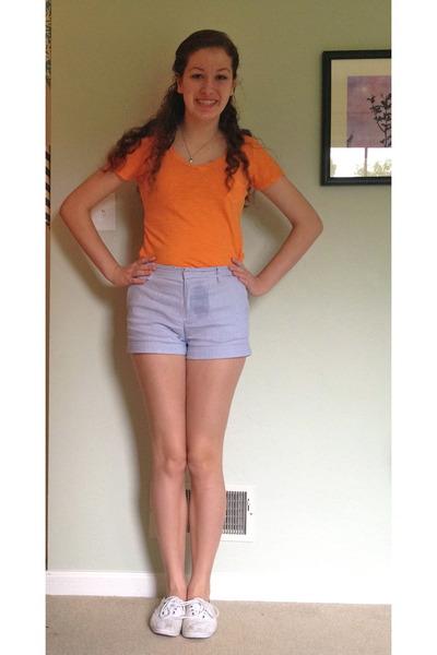 Orange Gap Ts, Shirts, Blue Striped Forever 21 Shorts, White ...
