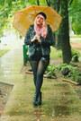 Black-privileged-boots-charcoal-gray-leopard-print-sans-souci-coat