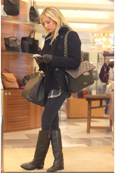 brown boots gray tights black jackets quot grey