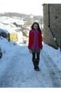Red-h-m-coat-pink-oxfam-scarf-blue-clothes-show-live-dress-black-aristoc-t