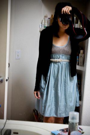 blue Marc by Marc Jacobs dress - black Zara cardigan - white somewhere in Thaila