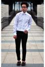 Black-skinny-black-h-m-jeans-white-skull-print-zara-shirt