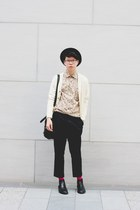 navy cotton Factotum pants - black COS boots - black Givenchy bag