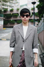 White-h-m-hat-heather-gray-calvin-klein-blazer-dark-brown-louis-vuitton-bag