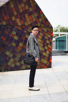 ivory DrMartens shoes - black Givenchy bag - navy Zara pants