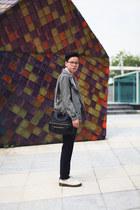 ivory DrMartens shoes - black Givenchy bag - navy Zara pants