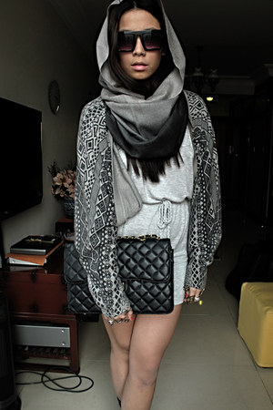 Wanted boots - DKNY dress - Mums scarf - Manila SM bag - Auckland sunglasses - T