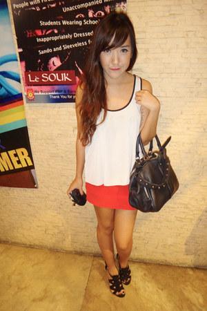 bodycon Topshop skirt - anita frame Alexander Wang bag - Forever 21 heels