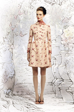 light pink floral redvalentino coat