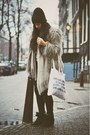 Silver-fur-zara-coat-black-weekday-jeans-ivory-self-made-bag
