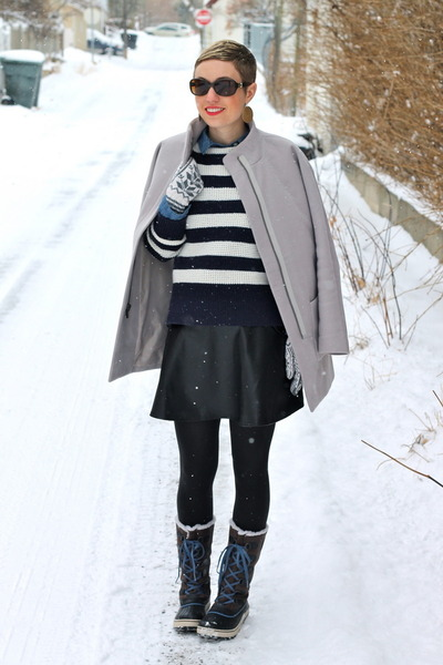 Sorel boots - Old Navy coat - Gap sweater - Old Navy shirt - TJ Maxx skirt