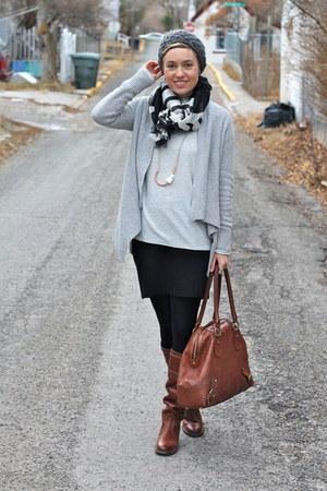 Target sweater - Frye boots - Target scarf - banana republic bag - Velvet skirt