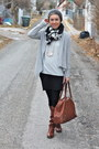 Frye-boots-target-sweater-target-scarf-banana-republic-bag-velvet-skirt