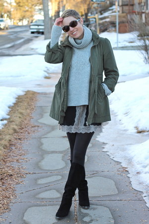 H&M jacket - Chinese Laundry boots - Gap sweater