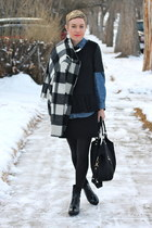 banana republic coat - Zara boots - H&M shirt - Ellington Handbags bag