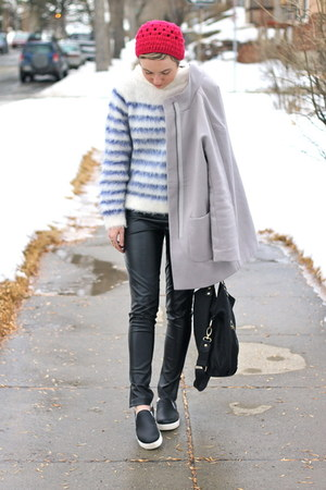 Old Navy coat - Forever 21 hat - H&M sweater - Circus by Sam Edelman sneakers