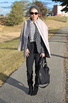 H&M blazer - Mia boots - Old Navy coat - Old Navy shirt - Ellington Handbags bag