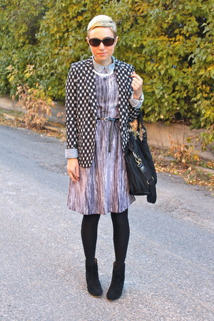 Mia boots - Target dress - H&M blazer - Ellington Handbags bag