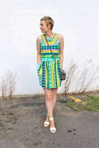 Nine West purse - MSGM dress - Nine West wedges