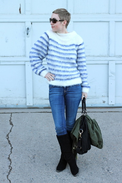 H&M sweater - Chinese Laundry boots - Old Navy jeans
