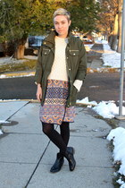 Steve Madden boots - Macys dress - Macys jacket