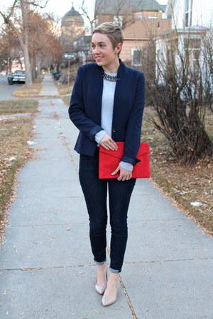 7 for all mankind jeans - Macys sweater - H&M blazer - Nine West heels