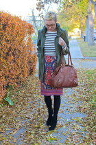 Mia boots - H&M jacket - Old Navy shirt - banana republic bag - Target skirt