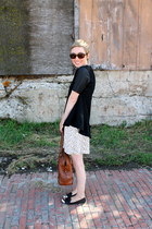 H&M shirt - banana republic bag - H&M skirt - Dolce Vita flats