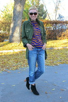 piperlime top - Mia boots - Joes Jeans jeans - Nine West purse