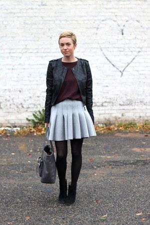black Mia boots - black Target jacket - maroon Old Navy sweater