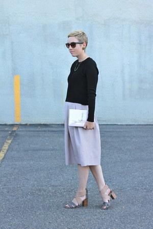 Zara shirt - kate spade purse - H&M skirt - DSW heels