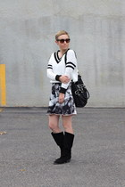 Forever 21 sweater - Chinese Laundry boots - Target skirt