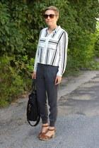 H&M shirt - Michael Stars pants - Old Navy clogs