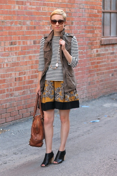 Target boots - Target shirt - banana republic bag - Forever 21 vest