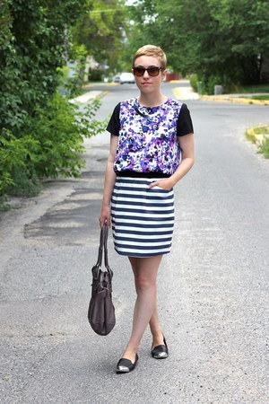 Urban Outfitters bag - piperlime skirt - Dolce Vita flats - TJ Maxx blouse