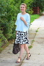 Zara skirt - weekday shirt - Urban Outfitters bag - Report sandals