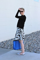 Zara shirt - Zara bag - Zara skirt - Chinese Laundry flats